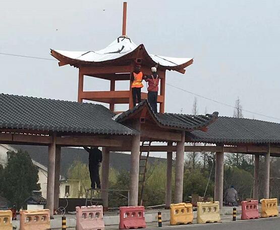 钢木结构景观桥