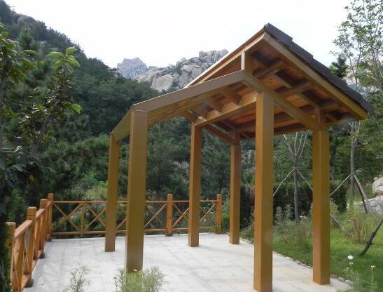 上海钢木结构景观桥