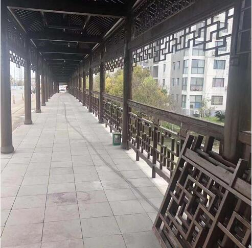 钢木结构廊桥