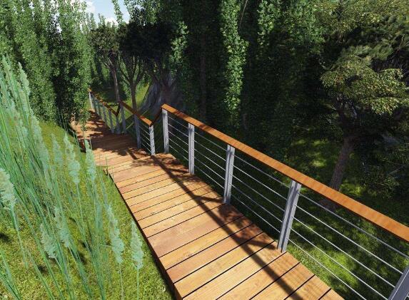 杭州钢木结构景观桥